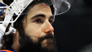 Eventhough he hasn't been in a playoff game since 2008, DiPietro is still rockin' the Playoff Beard