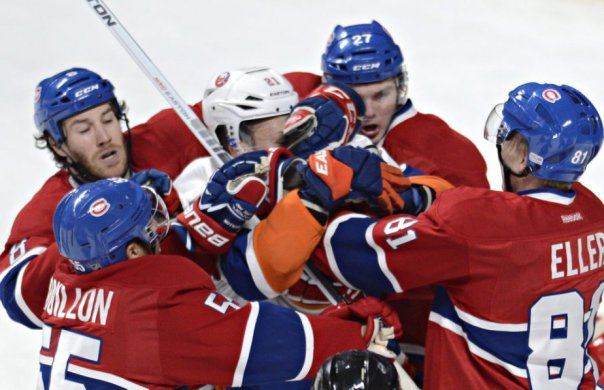 Okposo takes on all the Canadiens over 5'7""