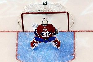 Patrick Roy talked to the posts; Price talks to the crossbar.
