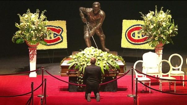 Guy Lafleur rend un dernier hommage à Monsieur Béliveau.