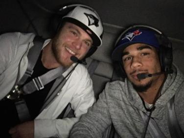 Need another reason to love Evander Kane? The guy takes a helicopter to the Jays-Royals game 3.
