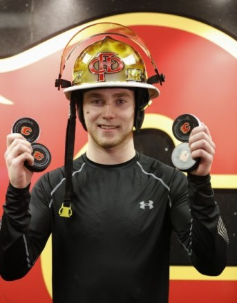 Calgary: When you score 4 goals in one game you get to drive the fire truck.