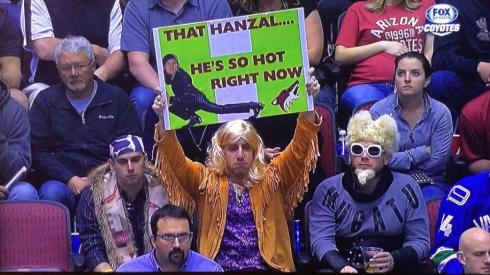 That Hanzal. So hot right now.