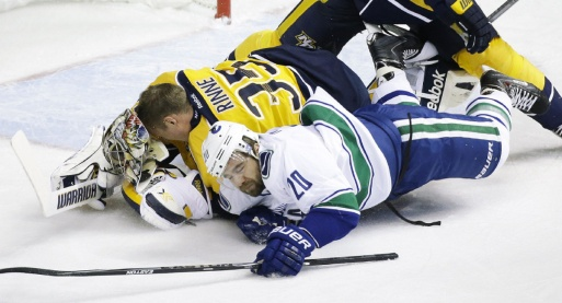 A shameless Pekka Rinne ends Higgins' Canucks career with this craftily orchestrated Goaltender Interference charade.