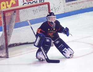"""Devan Dubnyk, age 10. """"He looked like a goalie,"""" said his father, Barry."""