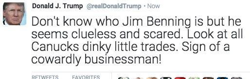 trump canucks