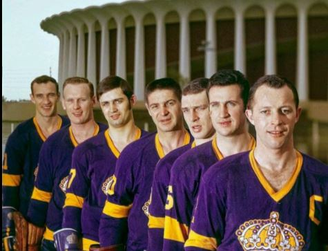 """The '67 LA Kings with their expansion """"gems,"""" including a 74 year-old Terry Sawchuk."""
