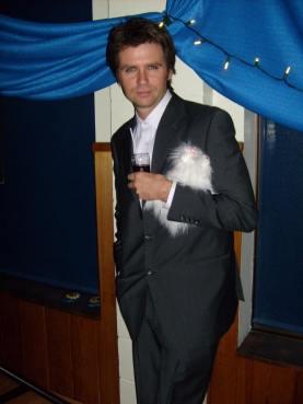 """Ren as Simon's body-double in Duran Duran's """"Wild Boys"""" video shoot."""