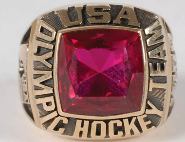 Guys like Mike Richter, Brian Leetch, Tony Granato and Kevin Stevens got these rings as members of the U.S. hockey team for Calgary in 1988 (est. $1,500). Pretty fancy piece of jewelry for a team that finished seventh.