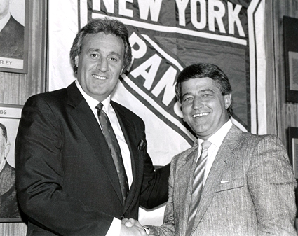 And how did it turn out for Bergeron in New York? He missed the playoffs in his first season with a 36-34-10 record and was fired by Esposito with just two games remaining in his second season with the team at 37-33-8 and replaced by... Esposito himself, who proceeded to lose the last two games of the regular season and then got swept out of the playoffs in four straight by the Pittsburgh Penguins.